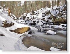 Full Scene  Winter Pool Acrylic Print