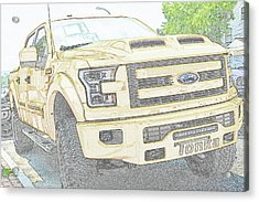 Acrylic Print featuring the photograph Full Sized Toy Truck by John Schneider