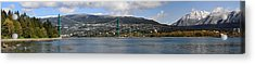 Full View Of The Lion's Gate Bridge Vancouver City  Acrylic Print by Pierre Leclerc Photography