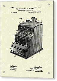 Fuller And Griswold Cash Register 1890 Patent Art Acrylic Print by Prior Art Design