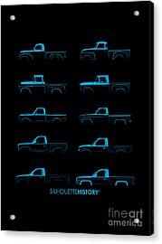 Fullsize Pickup Silhouettehistory Acrylic Print by Balazs Iker
