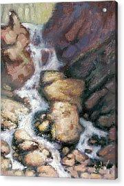 Fumee Falls Acrylic Print by Larry Seiler