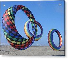 Fun Day At The Beach Acrylic Print by Barb Morton