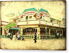 Fun House - Jersey Shore Acrylic Print by Angie Tirado