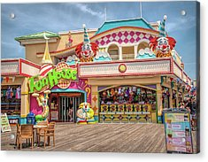 Acrylic Print featuring the photograph Fun House On The Point Pleasant Boardwalk by Kristia Adams
