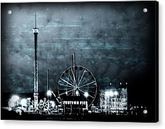 Fun In The Dark - Jersey Shore Acrylic Print
