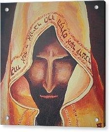 Fundraise Series 3 Praying Jew Acrylic Print by Kerstin Berthold