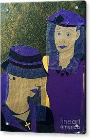 Funeral Masks Acrylic Print by Debra Bretton Robinson