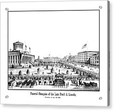 Funeral Obsequies Of President Lincoln Acrylic Print by War Is Hell Store