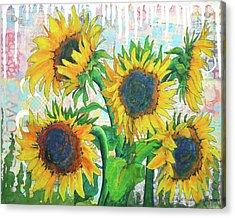 Funflowers Acrylic Print