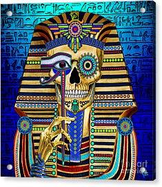 Funky Bone Pharaoh Acrylic Print by Christopher Beikmann