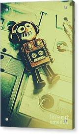 Funky Mixtape Robot Acrylic Print