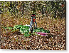 Acrylic Print featuring the photograph Funky Monkey - Reptile Rider by Al Powell Photography USA