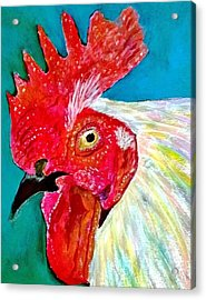 Funky Rooster Acrylic Print