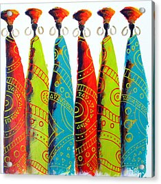Funky Zulus Acrylic Print
