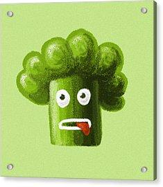 Funny Broccoli Acrylic Print