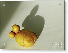 Funny Bunny Shadow Potato Acrylic Print