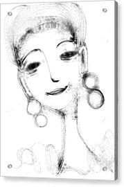 Funny Face Acrylic Print by Elaine Lanoue