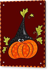 Acrylic Print featuring the painting Funny Halloween by Veronica Minozzi