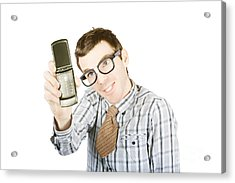 Funny Selfie Acrylic Print by Jorgo Photography - Wall Art Gallery