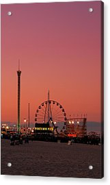 Funtown Pier At Sunset II - Jersey Shore Acrylic Print