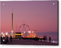 Funtown Pier At Sunset IIi - Jersey Shore Acrylic Print