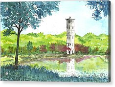 Furman Bell Tower Two Acrylic Print