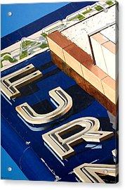 Furn Acrylic Print by Rob De Vries