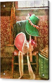 Furniture - Chair - Bonnets  Acrylic Print by Mike Savad