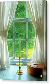 Furniture - Lamp - Still Life In A Window  Acrylic Print by Mike Savad