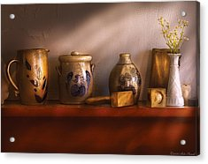 Furniture - Shelf - Family Heirlooms  Acrylic Print by Mike Savad