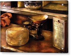 Furniture - Table - Curious Items For Sale  Acrylic Print by Mike Savad