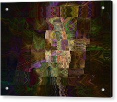 Acrylic Print featuring the digital art Furrows by Kate Word