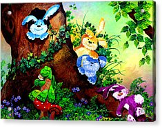 Furry Forest Friends Acrylic Print by Hanne Lore Koehler