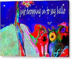 Furry Pals And A Bright Hello Acrylic Print