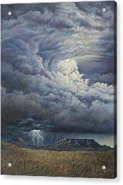 Fury Over Square Butte Acrylic Print