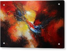 Acrylic Print featuring the painting Fury by Patricia Lintner