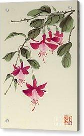 Acrylic Print featuring the painting Fuschia Pink by Yolanda Koh