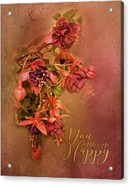 Fushia Bouquet Acrylic Print
