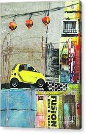 Acrylic Print featuring the mixed media Fusion by Elena Nosyreva