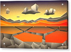 Future Horizon Acrylic Print by Milton Thompson