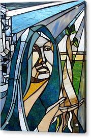 Future Mary Acrylic Print by Alicia  LaRue