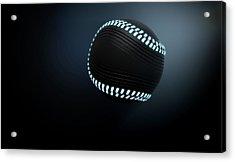 Futuristic Neon Sports Ball Acrylic Print by Allan Swart