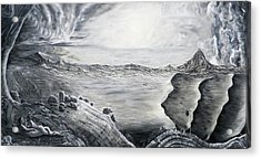 Fuxi And Nu Wa In The Garden Of Eden Acrylic Print