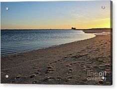 Fuzeta Beach Sunset Scenery. Portugal Acrylic Print by Angelo DeVal