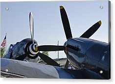 Fw190 And Spitfire Acrylic Print