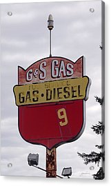 G - S Gas - Sorry We Are Closed Acrylic Print