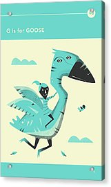 G Is For Goose Acrylic Print