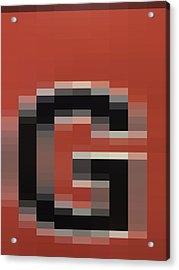 G - Context Series - Limited Run Acrylic Print by Lars B Amble