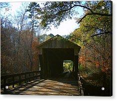Ga. Covered Bridge Acrylic Print by Navarre Photos